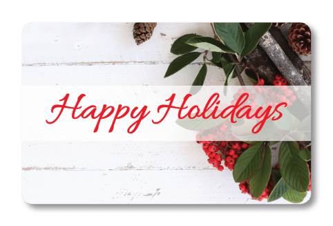 Holiday Gift Holly Card