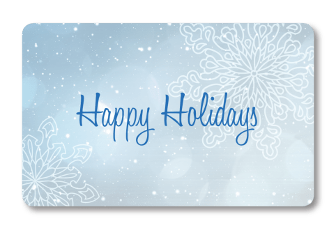 Holiday Snowflake: Gift Card Front