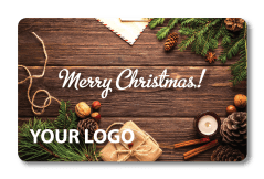 Christmas Gift Pine Card with Custom Logo