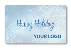 Holiday Snowflake with Custom Logo Added