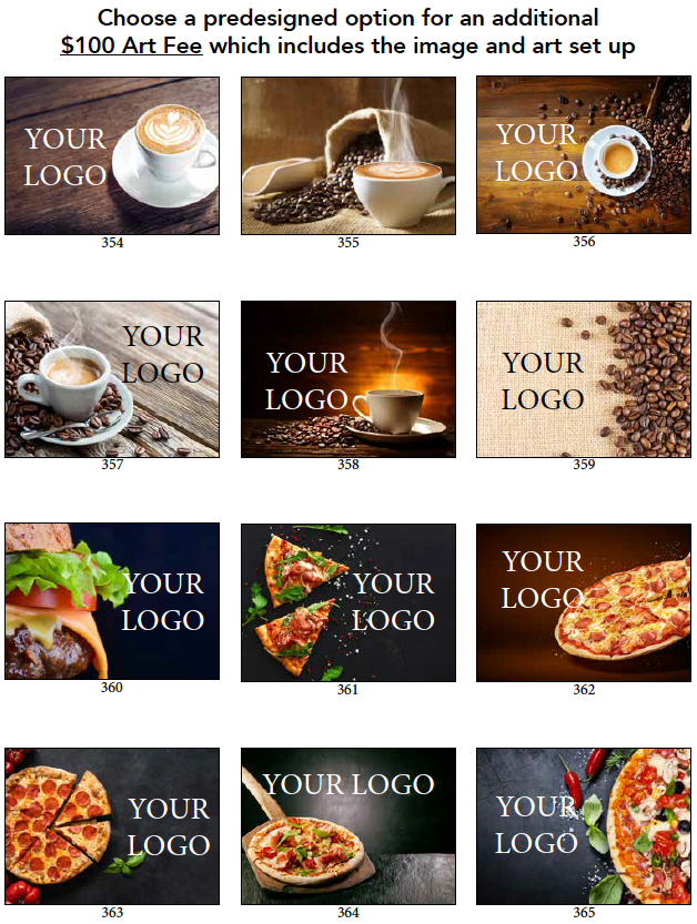 pizza gift cards, burger gift card, coffee gift cards, cafe gift cards, coffee shop gift cards