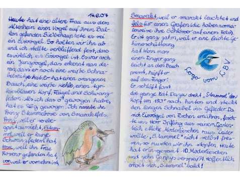 Ein Auszug aus dem Tagebuch der Autorin dieses Beitrags, © Lenka Stepanek