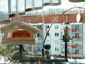 Der Fensterfutterplatz von der Wohnung aus betrachtet, © Birgit Kästner