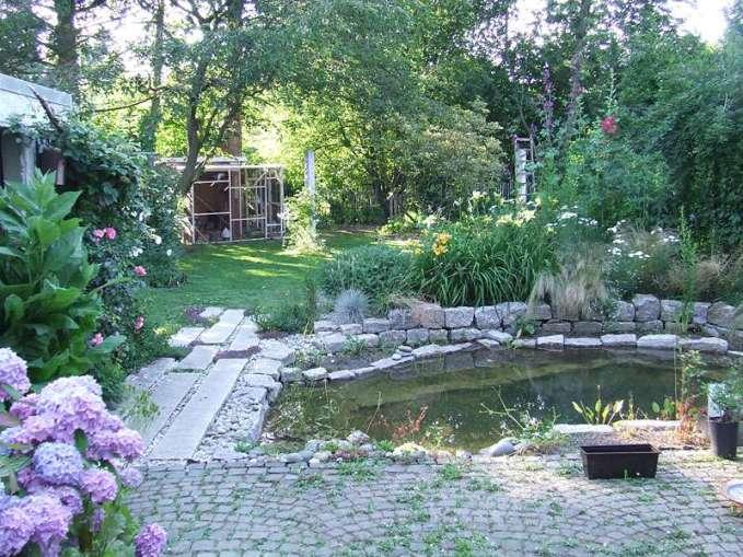 Teiche in naturnah gestalteten Gärten ziehen viele Tiere an, Gartenteich, © Simone Stapelberg