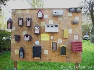 Verschiedene Nisthilfen und Insektenhotels der Firma Schwegler, © Greifvogelhilfe.de