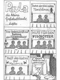 Paula-Comic 'hilflos', © Tierbefreiungsoffensive Saar e. V.
