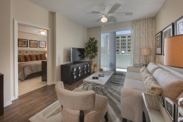 Gaze Upon Your Courtyard From The Balcony In This 536 Square Foot Apartment Complete With Stainless Steel Liances And Hardwood Floors