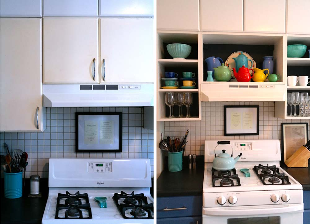 diy kitchen cabinet space saver design makeover