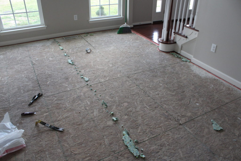 remove carpet padding from cement floor ideas