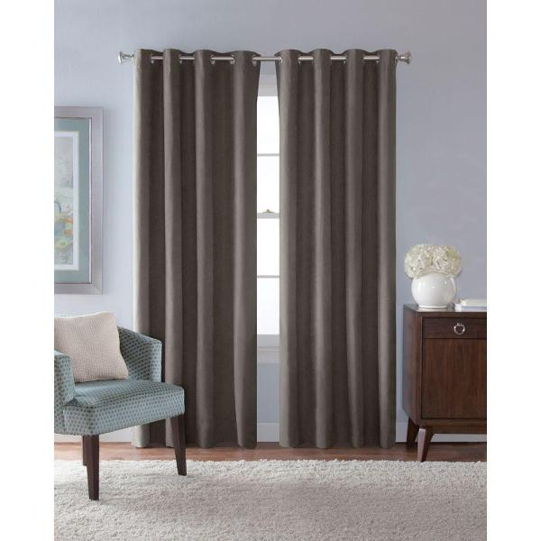 Grey Grommet Curtain Panels