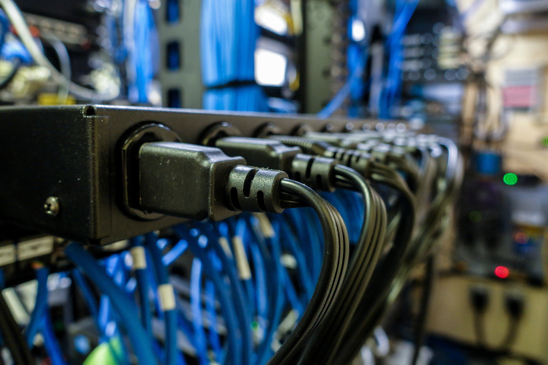 hight resolution of close up of cable attached electrical equipment