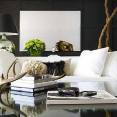 White Sofa Living Room Designs Paint Colour Scheme For How To Decorate In Black And Hotpads Blog
