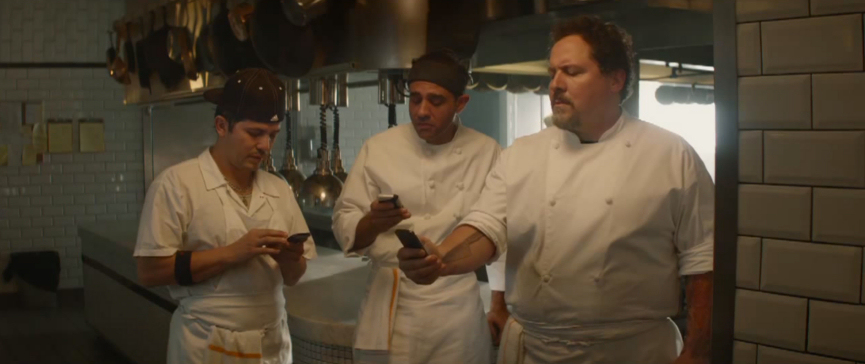 Phones, mobile devices and other various forms of social media play a major part in Chef.