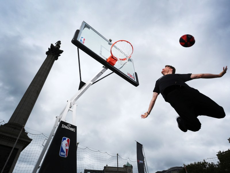 Dunk Elite, the best dunkers in the world brought excitement and wonder to London's Trafalgar Square to help launch NBA 2K17, out today on PS4, Xbox One and PC