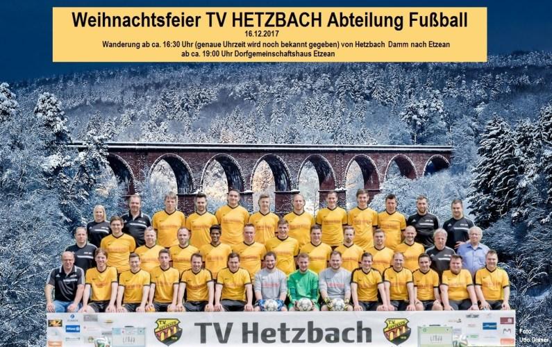 Weihnachtsfeier TV Hetzbach Abteilung Fußball 2017