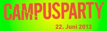Campusparty wird morgen volljährig - Tortenanschnitt zum 18. Geburtstag mit Detlef Sittel und Kubschützer Medienbäcker Stefan Richter