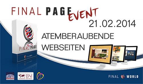 Der WEBSEITEN - WORKSHOP. Wie Sie einfach, schnell und unabhängig aktuell bleiben. Herzliche EINLADUNG zum city-map Dresden FINAL PAGE EVENT