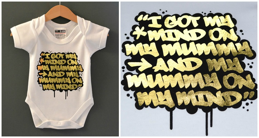 Nippaz with attitude baby onesie mummy-on-my-mind-babygrow