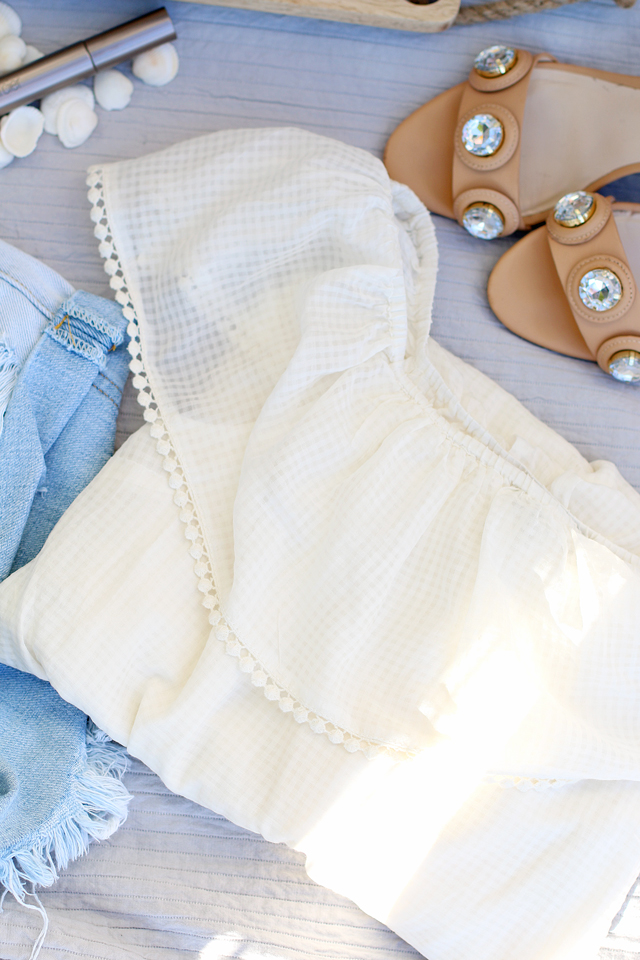 Weißes Off Shoulder Kleid