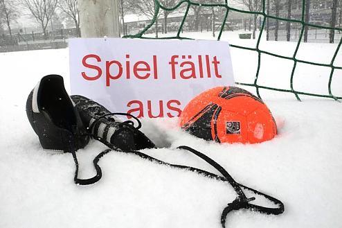 Spieltag wegen Schnee abgesagt