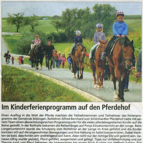 Gmuender Anzeiger vom 07.10.2009
