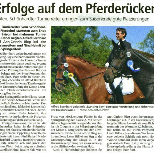 Gmuender Tagespost vom 23.09.2011