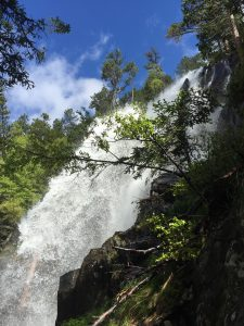 waterfall in Aigüestortes i Estany de Sant Maurici National Park