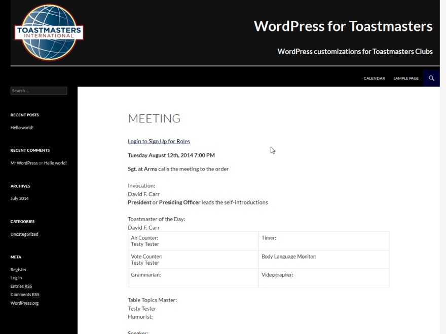 WordPress for Toastmasters Child Themes - WordPress for Toastmasters