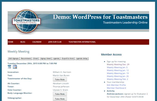 wp4toastmasters-demo
