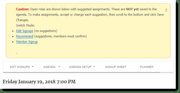 agenda notifications