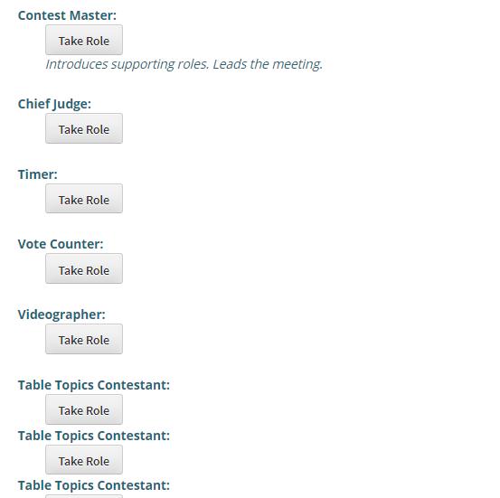 Sample Contest Agendas International Speech And Table