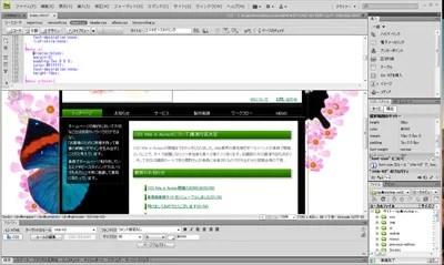 Adobe CS4 Dreamweaver画面
