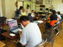 画像:パソコン講習会の様子