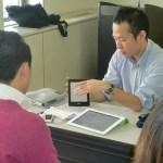 視覚障害者向けiPad講習の様子