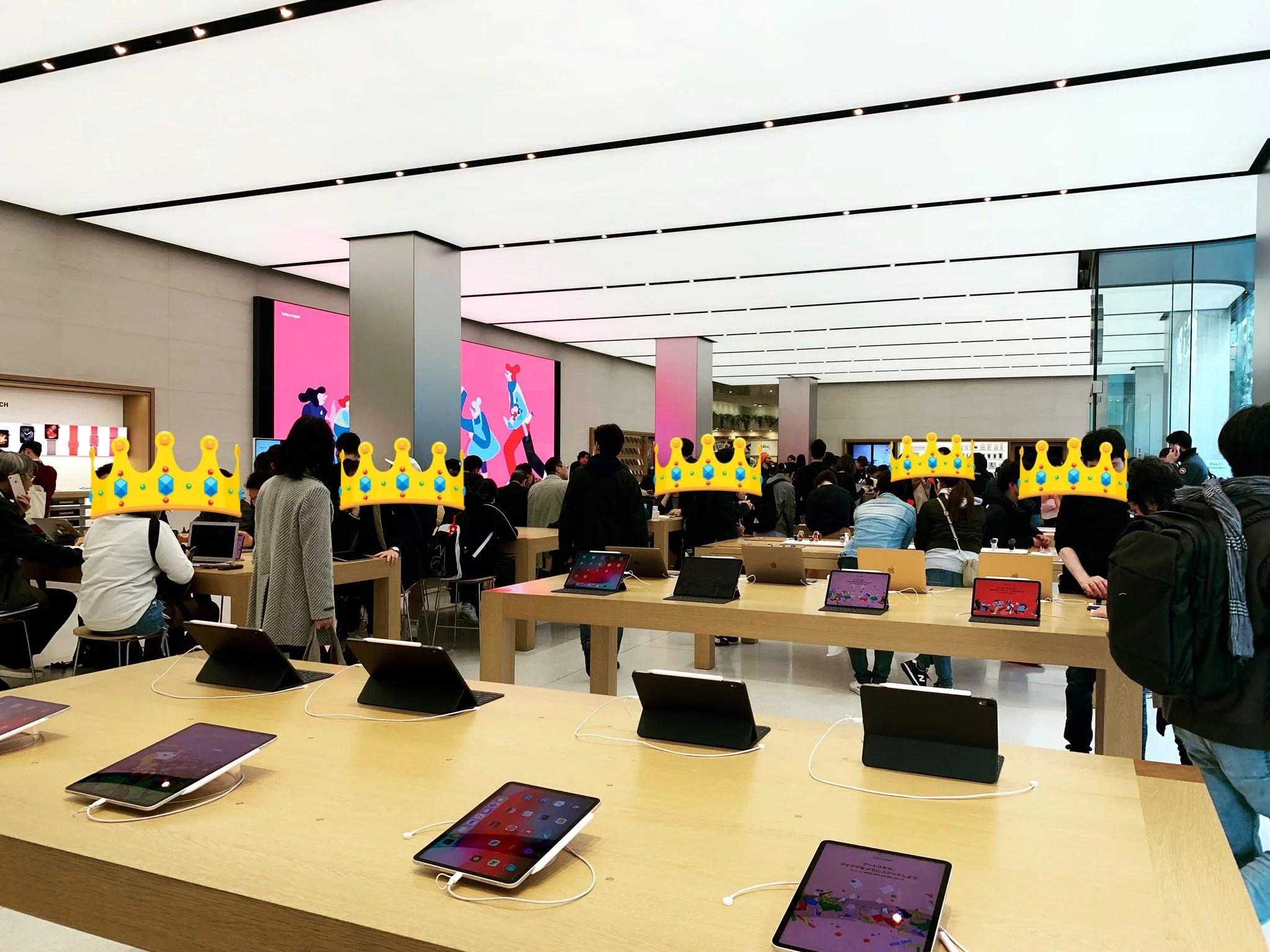 Apple新宿店内