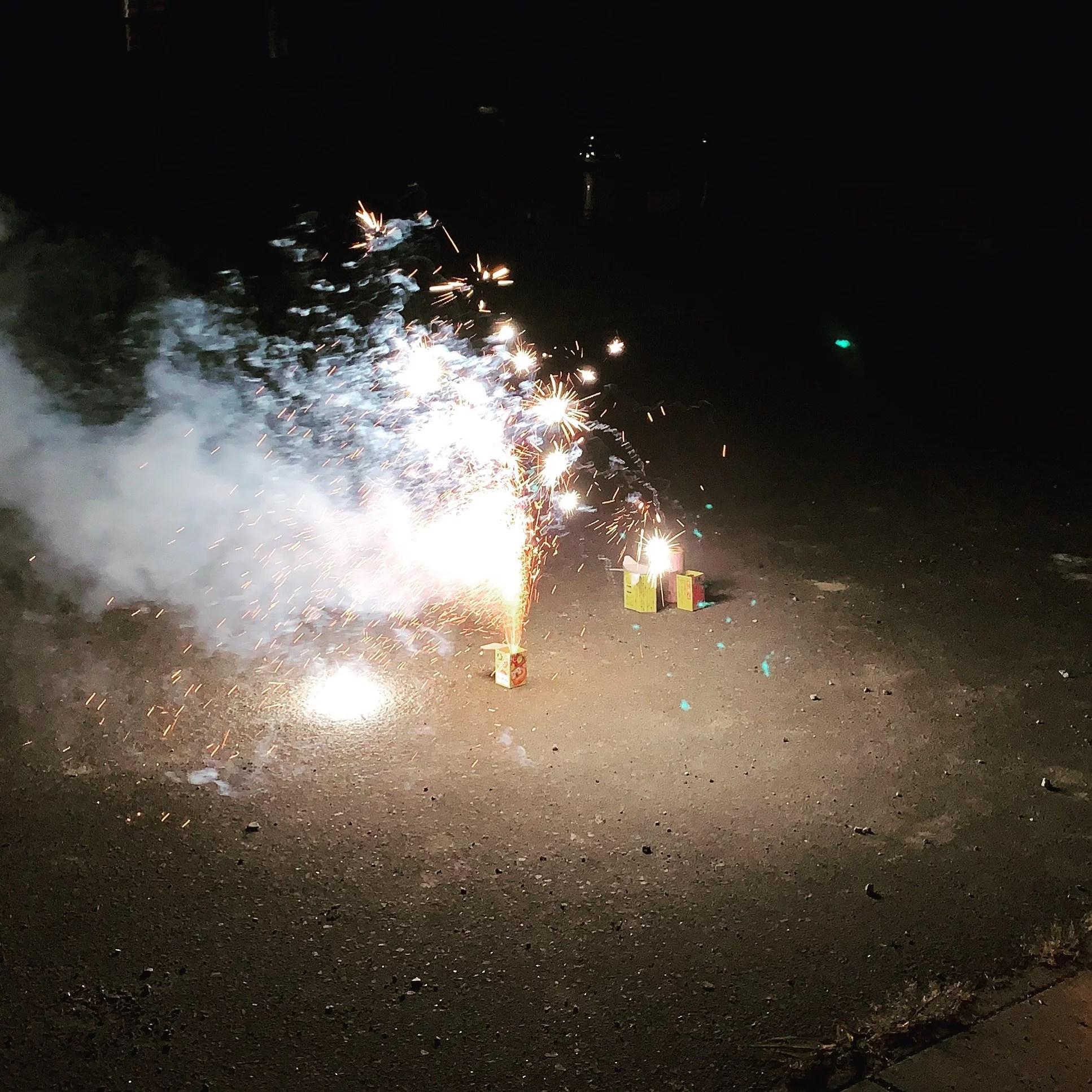 庭先でやった花火