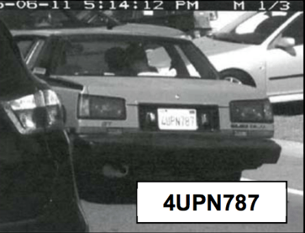 Surveillance cameras captured an image of the suspect car. Photo: LPD