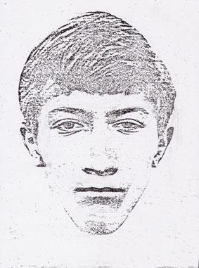 Composite sketch of the suspect.