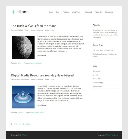 Alkane - Free WordPress Theme