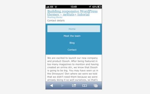 Building a Mobile Responsive WordPress Theme