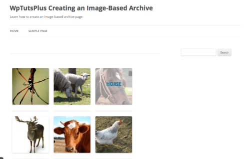 Creating an Image-Based Archive Page