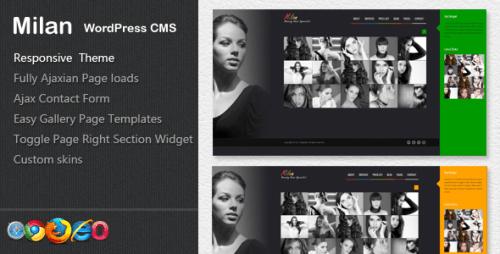 Milan - Beauty WordPress CMS Theme