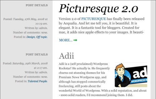 Newspaper style layout with WordPress and jQuery
