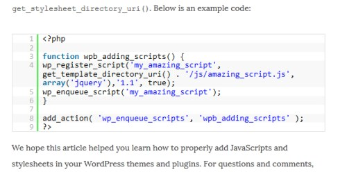 How to Properly Add JavaScripts and Styles in WordPress