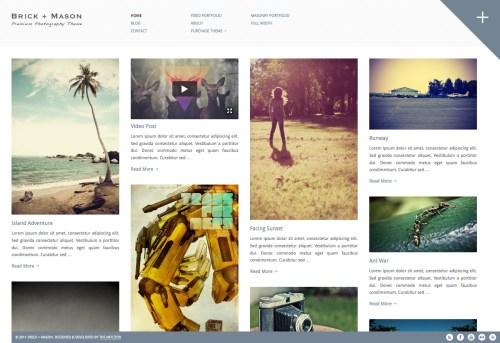 Brick + Mason - Photography and Blog Theme