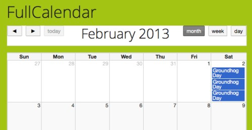 Full Calendar Js