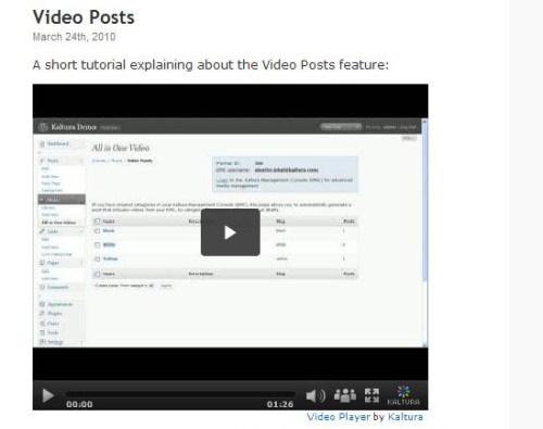 Kaltura All-in-One Video Plugin