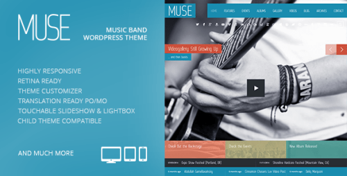 Muse: Music Band Responsive WP Theme
