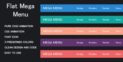 CSS3 Flat Mega Menu