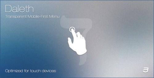 Daleth - Transparent Mobile-First Menu